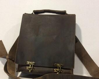Leather Messenger Bag For Men,Top Handle Crossbody Bag/Leather Satchel Bag Gifts for Men