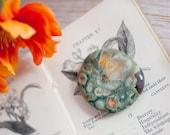 Rhyolite Palm Stone  - Rain Forest Jasper Palm Stone  - Natural Crystal - Gemstone