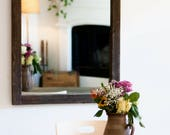 Rustic Wall Mirror - Large Wall Mirror - 28 x 34 Vanity Mirror - Bathroom Mirror - Rustic Mirror - Reclaimed Wood Mirror - Bathroom Vanity