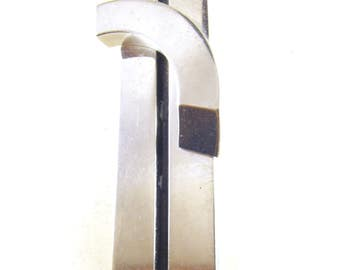 Industrial Mod Brooch Chromed Metals Modernist Design Style Architectural Industrial Design Style