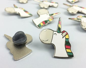 Unicorn Enamel Pin Badge - unicorn pin - fun enamel pin - pin brooch - gift for friend - jewellery - pin - enamel pin - unicorn gift- cute