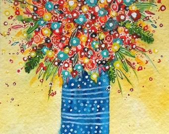 Flower Spray, original watercolour painting