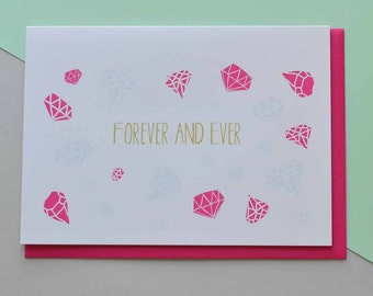 Forever and ever - Greeting Card (Free UK delivery)