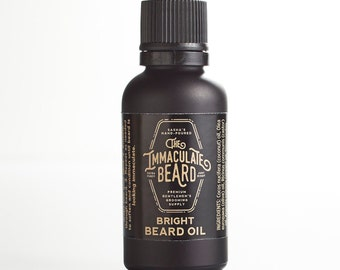 Beard Oil BRIGHT, Natural, Beard Conditioner, Spearmint, Lemon, Lavender, Sea Air, Beard Care, Beard Oil, Beard grooming, Immaculate, Father
