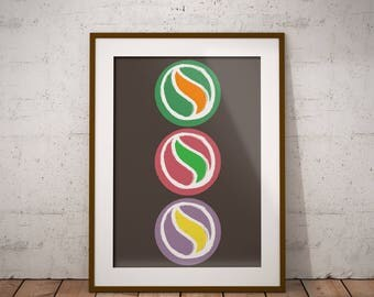 Instant DIGITAL Download-There Color marbles wall art, Hand drawn in Calligraphy way, Printable Poster,Print Art, home decor, office decor