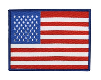 American Flag Woven Sew-On Applique USA Nation DIY Military Patriot Jacket Patch