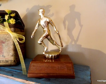 Vintage Baseball Trophy, Sports collectible,Sports memorabilia,Baseball award,Baseball decor