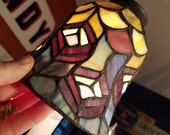 Four Peacock Pattern Stained Glass Light Shades for Sconce Fan Nightlight Etc