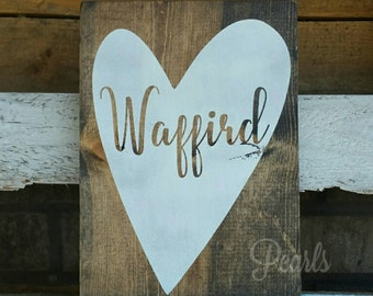 Rustic Personalized Last Name Sign