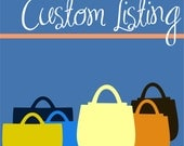 Custom listing for Jeanie S. - Striped Knitting Bag and Notion Cases
