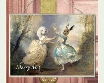 "Merry Met Plaque.  ...has oil Painted effect  finish...10""x7"" Charlotte Bird"