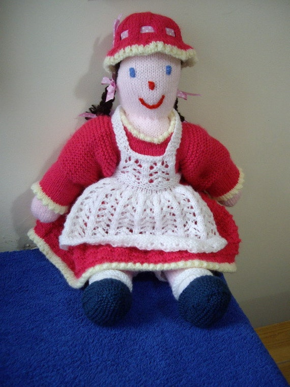 Knitting Pattern Large Rag Doll : Traditional Rag Doll knitting pattern from ArdreeDesignsUK ...