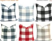 15% Off Sale Buffalo Check Pillow, Decorative Pillow, Plaid Pillow, Gray Pillow ,Country Pillow, Red pillow, Throw Pillows, Designer pillow