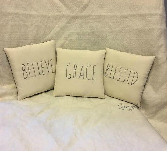 Throw Pillows With Scripture : Quote Pillows Scripture Throw Pillow Grace Pillow
