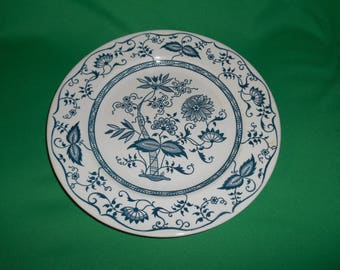 "One (1), 10"" Dinner Plate, from Cavalier Ironstone, by Royal China (USA), in the RYL-13 Pattern."