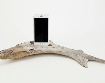 Docking Station for iPhone, iPhone dock, iPhone Charger, iPhone Charging Station, iPhone driftwood dock, wood iPhone dock/ Driftwood-No. 993