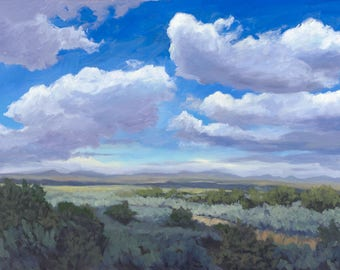 Taos Gorge Clouds, I - Taos, New Mexico - Limited Edition Fine Art Landscape Prints