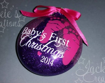 Baby's First Christmas Ornament- with Glitter Inside