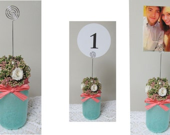 Wedding Table Number Holders, Table Number Holder, Wedding Sign Holders, Reception Number Holder, Made to Order Wedding Decorations