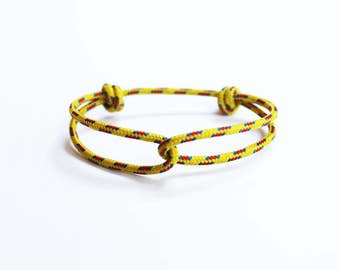 Rope Bracelet - Unisex Hugging Loop Rock Climbing Bracelet - New Yellow