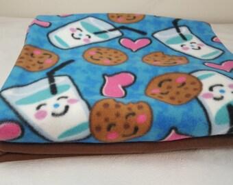 Cookies and milk fleece fabric