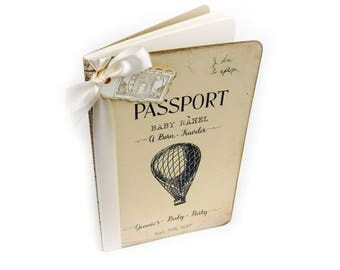 Baby Shower Advice Book, Hot Air Balloon, Travel Guest Book, Custom Wishes for Baby Journal
