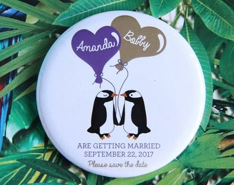 A Day at the Zoo design - Save the Date Magnets x 40