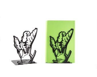 A pair of bookends Kohlrabi // Garden fan // Country style / housewarming present // kitchen bookends