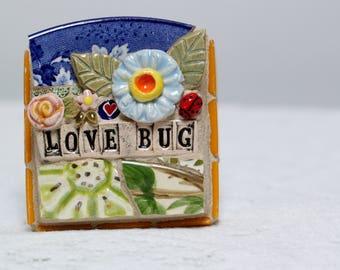 LOVE BUG, mosaic art, mosaic, ladybug