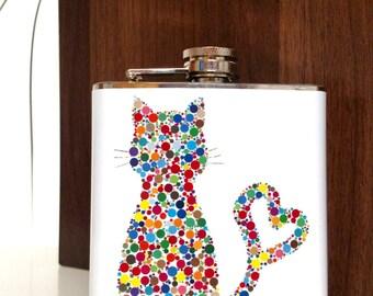 Cat Flask : White Lightening