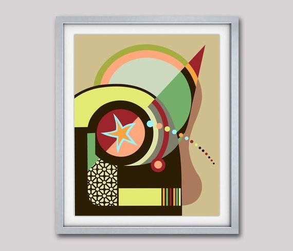 Bauhaus Poster, Bauhaus Print, Bauhaus Design, Bauhaus Wall Art, Abstract Painting, Abstract Art Print, Cubist Painting, Minimalist Art