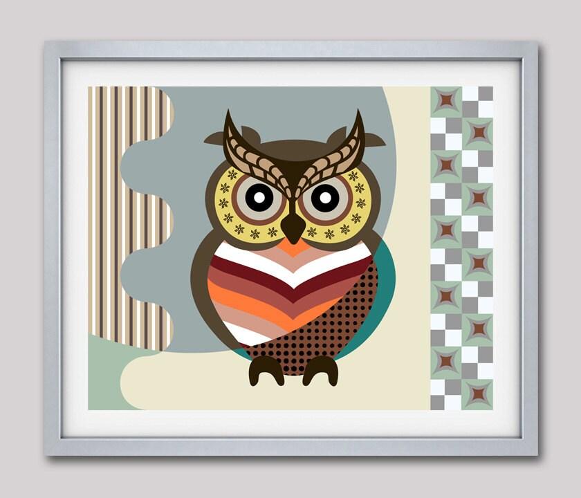 Owl Wall Art Print, Wise Owl, Owl Wall Decor Poster, Owl Art Work, Owl Wall  Hanging, Bird Art Print, Bird Art Work