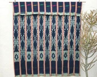 Vintage African Textile Baule Cloth Pink Indigo Textile Ethnic textile African Indigo Hand woven Ethnic Fabric Indigo Blue Decor 4