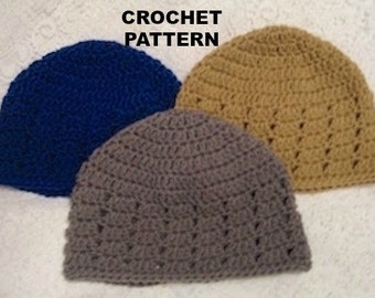 Crochet Pattern Cluster Beanie Hat Teen or Adult Cloche - Digital Download