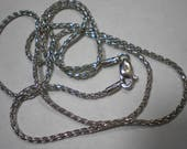 RESERVED Estate 14k White Gold Wheat Woven Chain 18 Inches