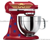 Wonder Woman Inspired Decal Kit for your Kitchenaid Stand Mixer - As Seen In Woman's World Magazine