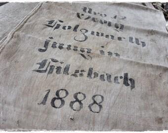 Grainsack, flour sack, antique linen, handwoven