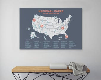 Us Map Etsy - Us map of states cork poster
