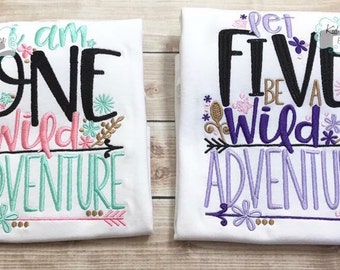 Wild/Adventure Birthday shirt