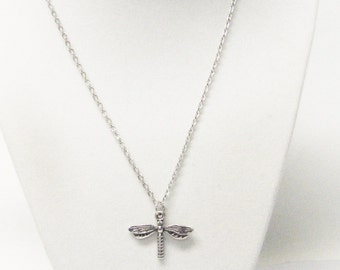 Silver Plated Moth Butterfly Charm Necklace