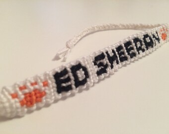 Handmade Ed Sheeran Embroidery Floss Friendship Bracelet