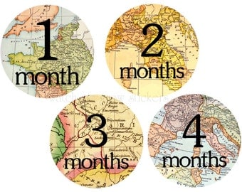 Month Stickers Monthly Stickers Baby Month Stickers Milestone Stickers Baby Shower Gift