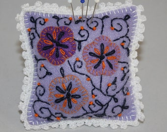 Filigree design felt pincushion