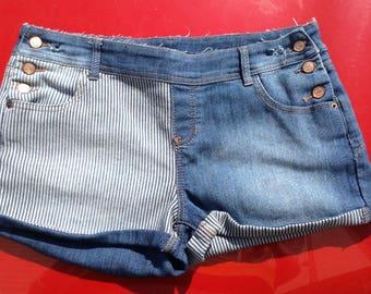 Ecofashion ladies denim cutoff shorts size 12 free domestic shipping