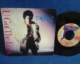 "Vintage, Prince - ""U Got The Look / Housequake"", Vinyl 7"" 45 RPM Single, Record Album, 1987 Original First Press, Sign O The Times"