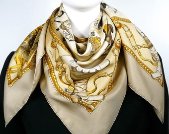 RESERVED Authentic Vintage Hermes Silk Scarf Presentation de Chevaux