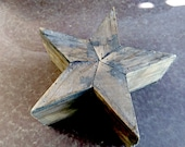 Star, Rustic Vintage Star, Timber - Rustic Star, Homemade, Three-dimensional