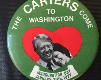 Assortment of Jimmy Carter pins, 1976-1977