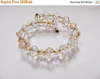 On Sale Vintage Aurora Borealis Crystal Wrap Bracelet Item K # 217
