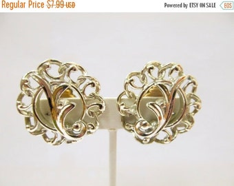 On Sale SARAH COVENTRY Large Silver Tone Openwork Earrings Item K # 588